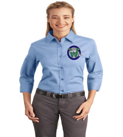 Waterbridge 3/4 sleeve ladies button up
