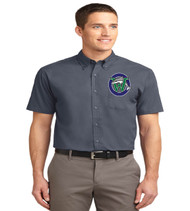 Waterbridge men's short sleeve button up