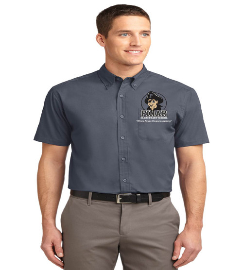 Pinar men's short sleeve button up