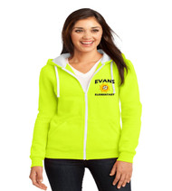 Evans ladies zip up hoodie