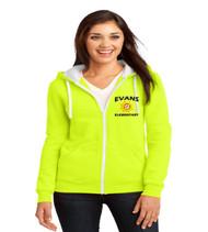 Evans ladies zip up hoodie