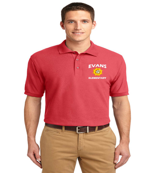 Evans men's basic polo