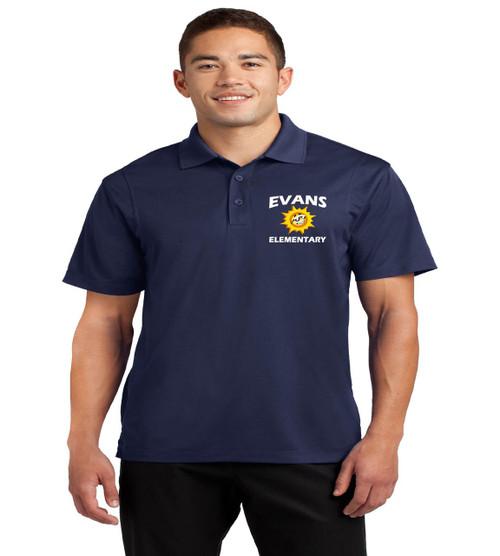 Evans men's dri fit polo