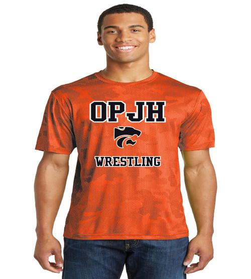 OPJH Wrestling Camo-Hex dri fit tee