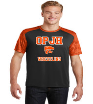 OPJH black/orange dri fit tee