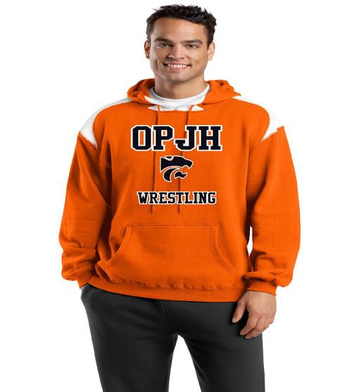 OPJH Wrestling orange/white hoodie