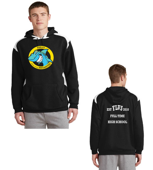 Fla virtual school color block hoodie
