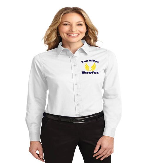 Sunridge middle ladies long sleeve button up