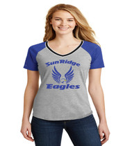 Sunridge Middle grey/royal jersey style ladies