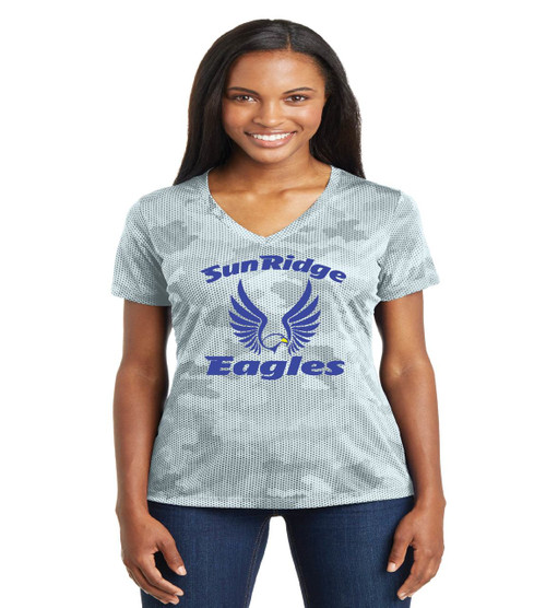 Sunridge middle camo-hex ladies tee