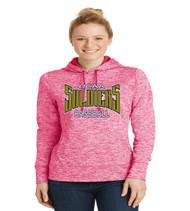 UCAA baseball ladies poly hoodie