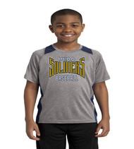 UCAA baseball color blck youth tee