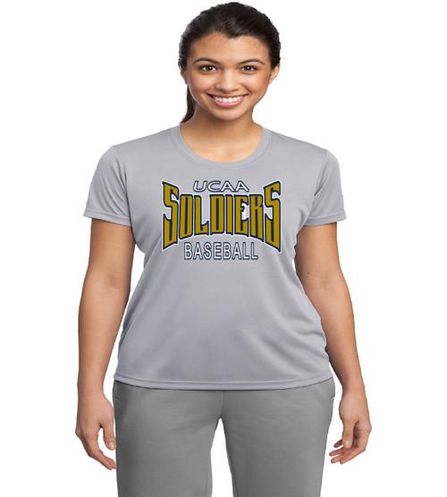 UCAA baseball ladies dri fit tee