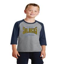 ucaa baseball 3/4 sleeve raglan youth