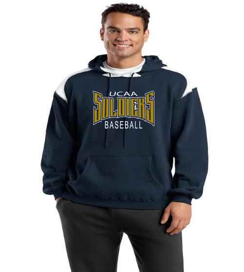 ucaa baseball color block hoodie