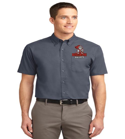 Biscayne mens short sleeve button up