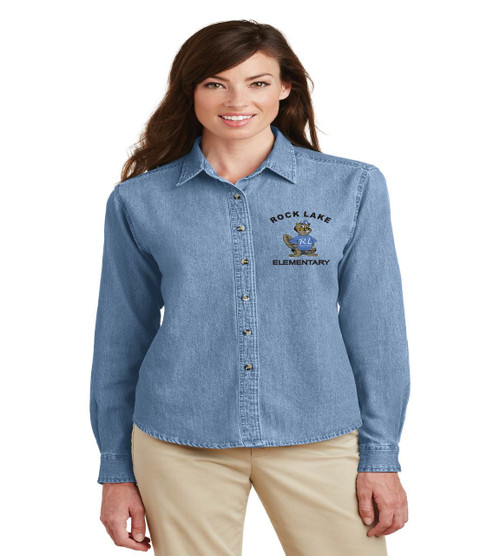 rock lake long sleeve ladies denim