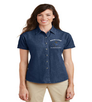 rock lake ladies short sleeve denim