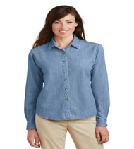 Durbin Creek Ladies Long Sleeve Denim Button-up