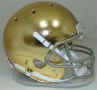 Notre Dame Fighting Irish Special TEXTURED GOLD CHROME Schutt Full Size Replica Helmet