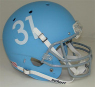 Kansas Jayhawks Alternate Matte Columbia Blue Schutt Full Size Replica Helmet