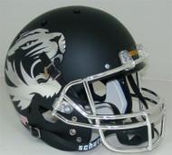 Missouri Tigers Alternate CHROME Matte Black Schutt Full Size Replica Helmet
