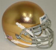 Notre Dame Fighting Irish Alternate Textured Gold Schutt Mini Authentic Helmet