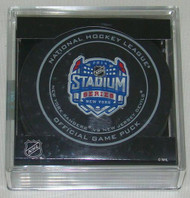 2014 NHL Stadium Series New York Official Game Puck in Cube - Rangers vs. Devils