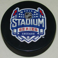 2014 NHL Stadium Series Chicago Sherwood Souvenir Game Puck
