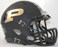 Purdue Boilermakers Alternate Black NCAA Revolution SPEED Mini Helmet