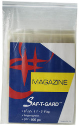 100 Magazine Storage Bags - Size: 8-7/8 x 11 inches