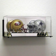 DELUXE DOUBLE MINI HELMET WALL MOUNTABLE DISPLAY