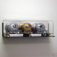 DELUXE TRIPLE MINI HELMET WALL MOUNTABLE DISPLAY