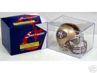 Mini Football Helmet Display Cube