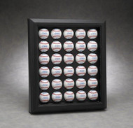 ACRYLIC 30 BASEBALL DISPLAY CASE - WALL MOUNTABLE