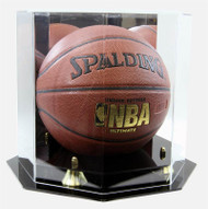 DELUXE FULL SIZE BASKETBALL OCTAGON DISPLAY CASE
