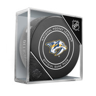 Nashville Predators Sherwood Official NHL Game Puck in Cube