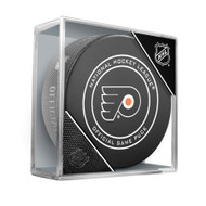 Philadelphia Flyers Sherwood Official NHL Game Puck in Cube