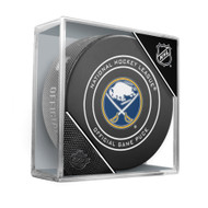 Buffalo Sabres Sherwood Official NHL Game Puck in Cube