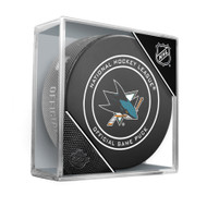 San Jose Sharks Sherwood Official NHL Game Puck in Cube