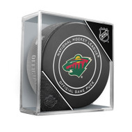 Minnesota Wild Sherwood Official NHL Game Puck in Cube