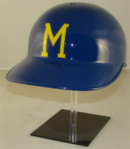 1975 Brewers Rawlings No Ear Covered NEC Throwback Full Size Baseball Batting Helmet