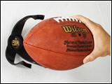 Football Ball Claw Wall Display Holder