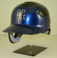 New York Mets Black and Blue Rawlings Coolflo REC Full Size Baseball Batting Helmet