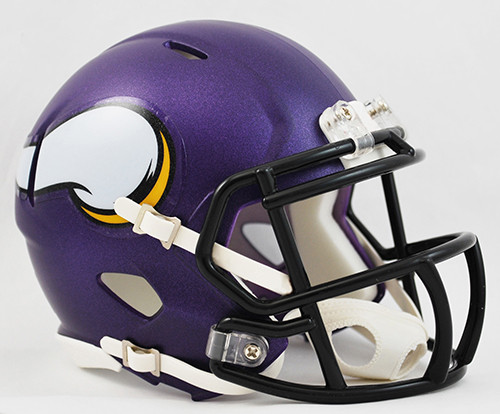 Minnesota Vikings Matte Purple Revolution SPEED Mini Helmet Riddell Image 1