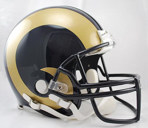 Back Bumper Football Helmets Types : Los angeles rams riddell full size authentic proline helmet