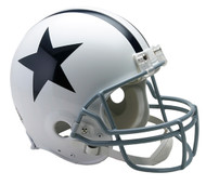 Dallas Cowboys White Riddell Full Size Authentic Proline Helmet