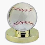 1 DELUXE GOLD BASE BASEBALL DISPLAY CASE