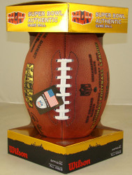 Super Bowl XLIV 44 Official Leather Authentic Game Football by Wilson