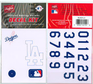 Los Angeles Dodgers Batting Helmet Rawlings Decal Kit